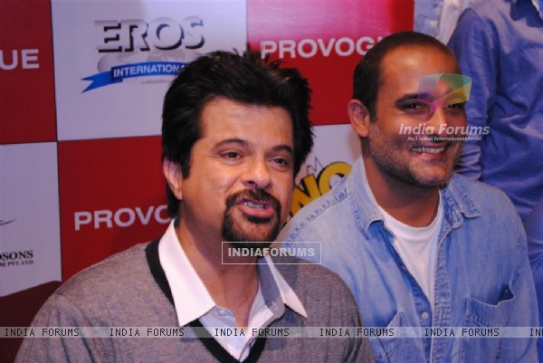 Anil Kapoor and Akshay Khanna at Promotion of 'No Problem' at the Provogue Studio, Mumbai