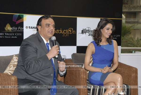Mallika Sherawat grace the Sahara Star New Year's bash announcement at the Sahara Star