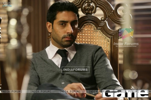 Abhishek Bachchan as Neil Menon in the movie Game(2011)