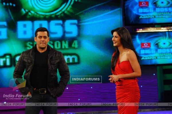 Salman and Katrina on the Sets of Big Boss at lonavala. .