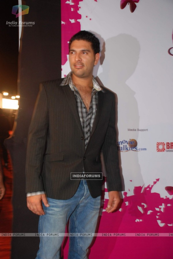 Yuvraj Singh at the Pearls Waves Concert,  Bandra Kurla Complex in Mumbai. .