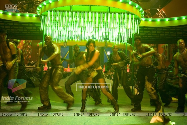 Priyanka dancing  on the dance floor