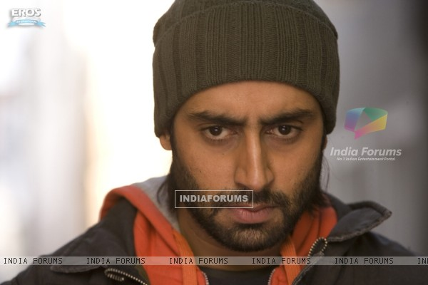 Abhishek looking angry in Drona