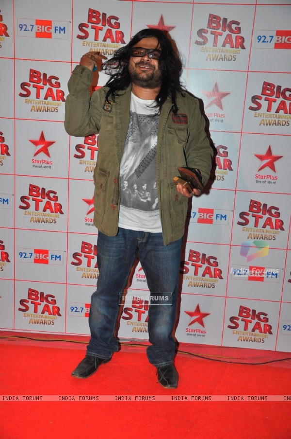 Pritam Chakraborty at the Big Star Entertainment Awards held at Bhavans College Grounds in Andheri