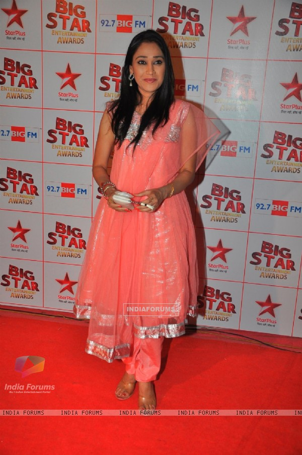 Disha Wakani at the Big Star Entertainment Awards held at Bhavans College Grounds in Andheri, Mumbai