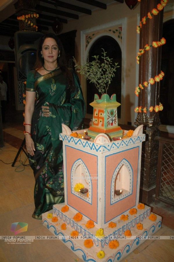 Colors launches Hema Malini's Maati Ki Banno at Dahisar. .