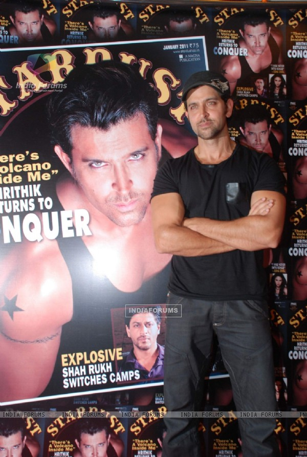 Hrithik launches Stardust new year's issue at Cest La Vie. .