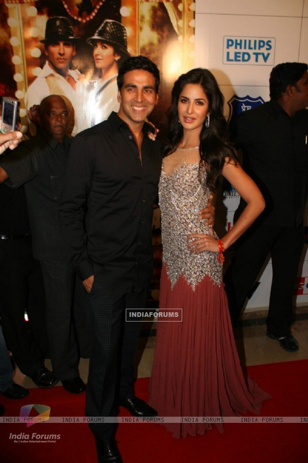 Akshay Kumar and Katrina Kaif at Tees Maar Khan charity screening at Metro. .