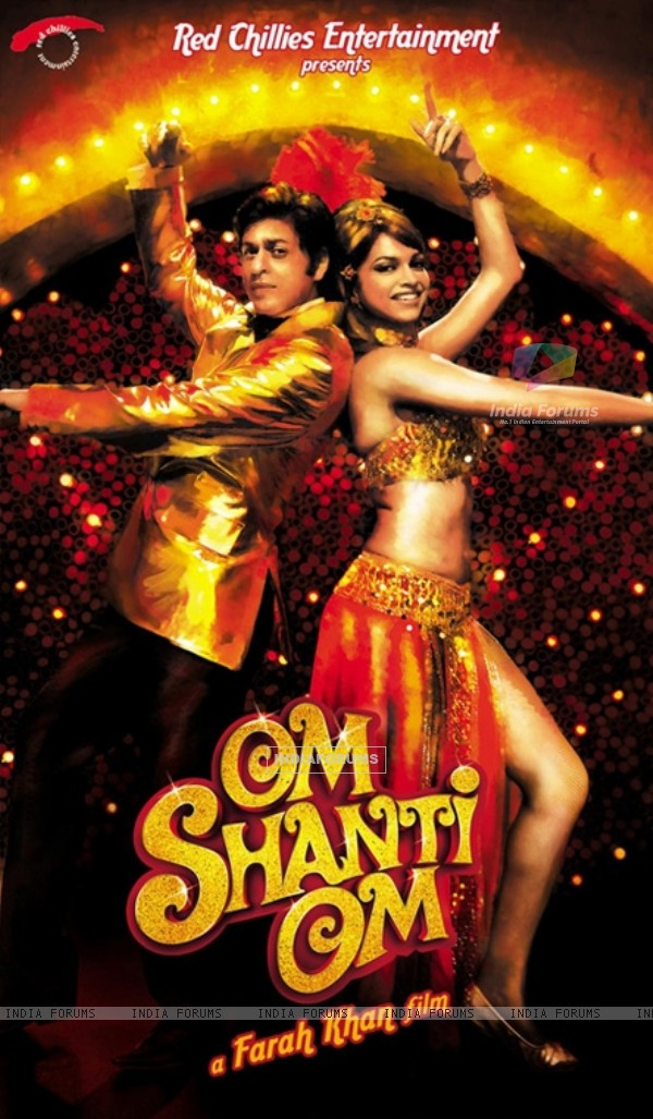 Poster of Om Shanti Om with Shahrukh and Deepika (11396)