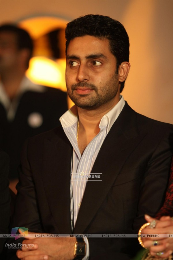 Abhishek Bachchan during an World bunts sports meet of 2010 in Mumbai