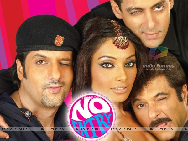 No Entry poster with Anil,Salman,Fardeen and Bipasha (11434)