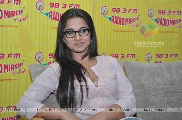 "Vidya Balan arrive to promote the Hindi film "" No One Killed Jessica"" at a 98.3 FM Radio station"