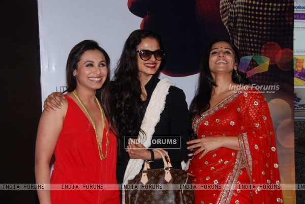 Rani Mukherjee, Rekha and Vidya Balan at No One Killed Jessica Premiere. .