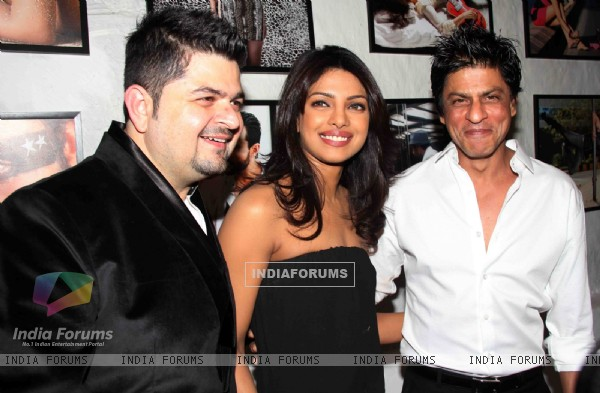 Shahrukh Khan and Priyanka Chopra at Dabboo Ratnani Calendar Launch at Olive, Bandra, Mumbai