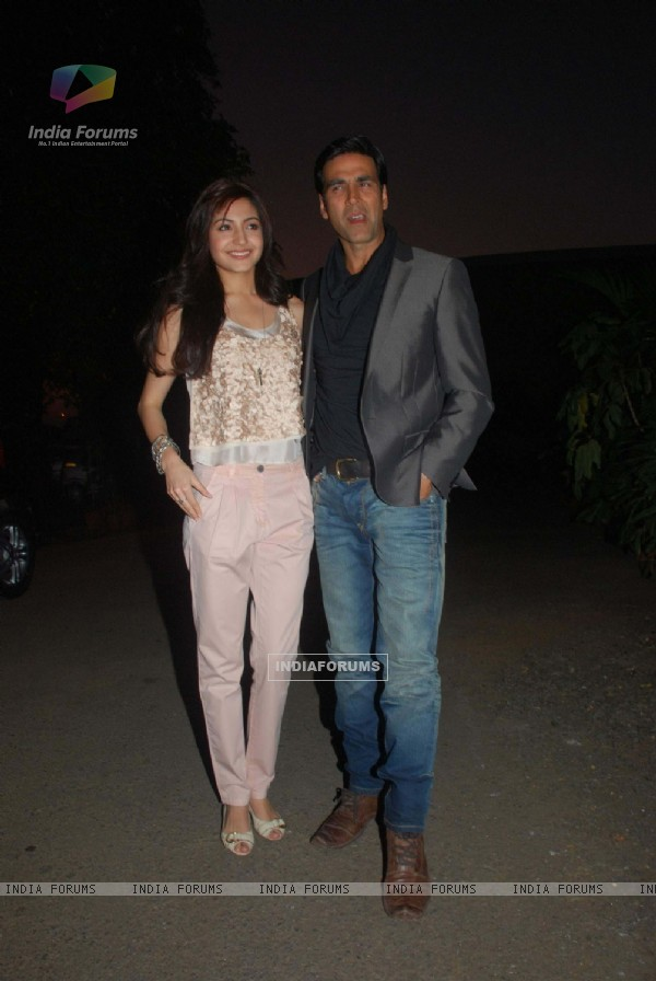 Anushka Sharma & Akshay Kumar at Patiala House music launch. .