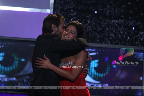 Ashmit Patel and Veena at Finale of Bigg Boss 4