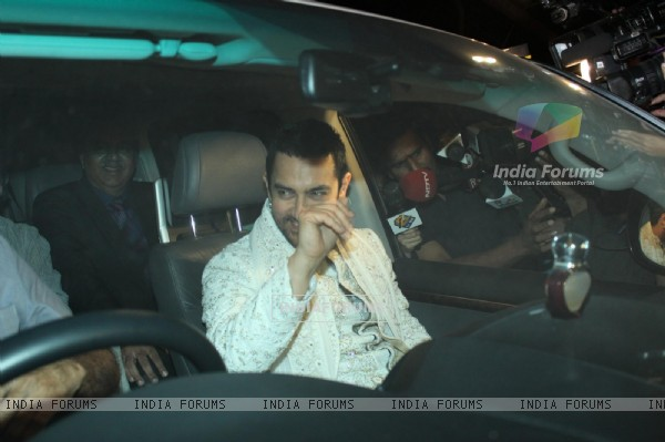 Aamir Khan at Imran Khan & Avantika Malik at sangeet photos
