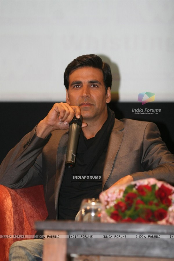 Akshay Kumar at Music Release of film 'Patiala House' at whisting woods, film city