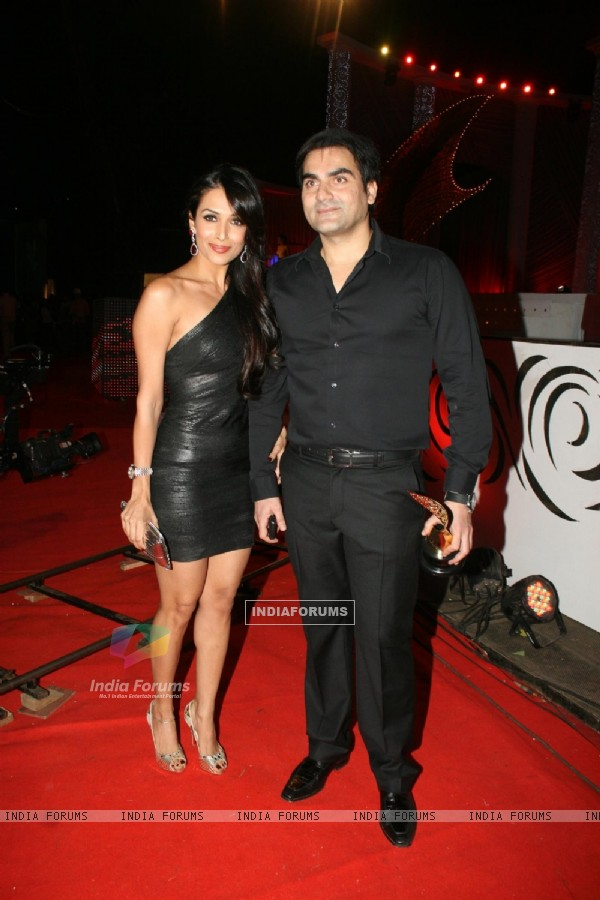 Arbaaz Khan and Malaika Arora Khan at 6th Apsara Awards Night at BKC, Mumbai