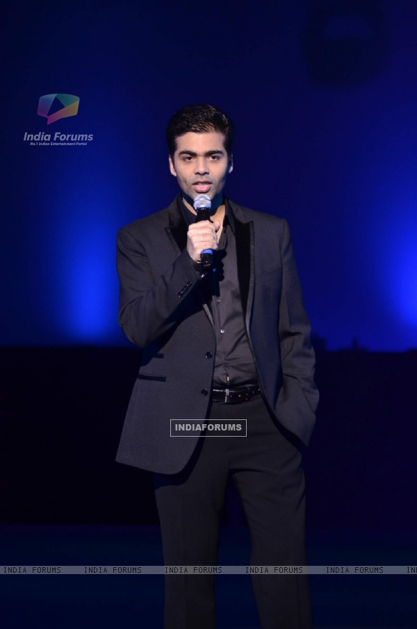 Karan Johar for Manish Malhotra show for Chivas Studio at Mahalaxmi Race Course. .