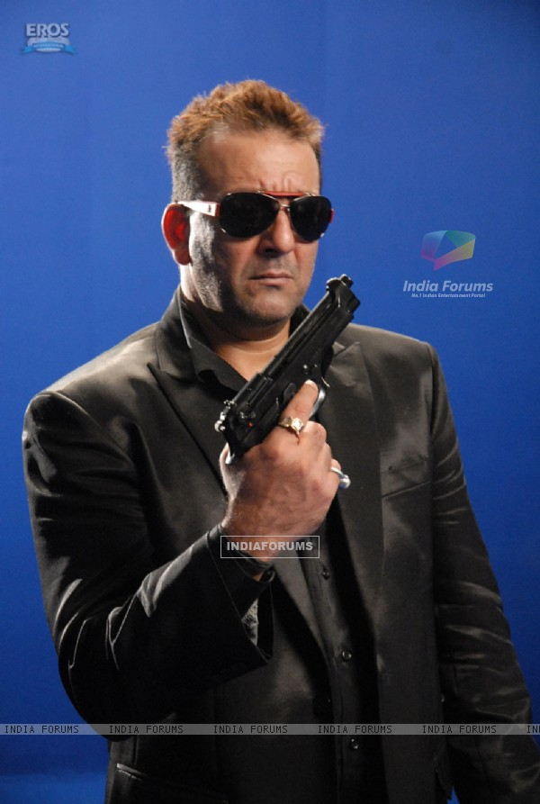 Sanjay Dutt looking smart with a gun