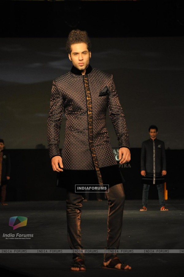 Models walking on the ramp for Manish Malhotra show for Chivas Studio