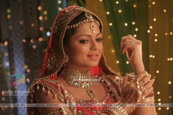 Geet in bridal outfit