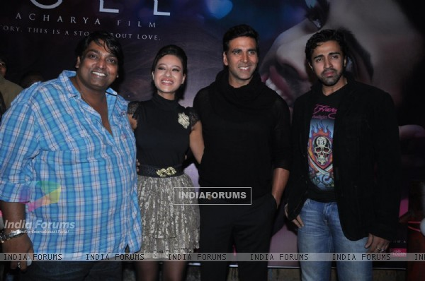 Akshay Kumar, Maddalsa Sharma, Nilesh Sahay and Ganesh Acharya launch the music of Angel film at Doc