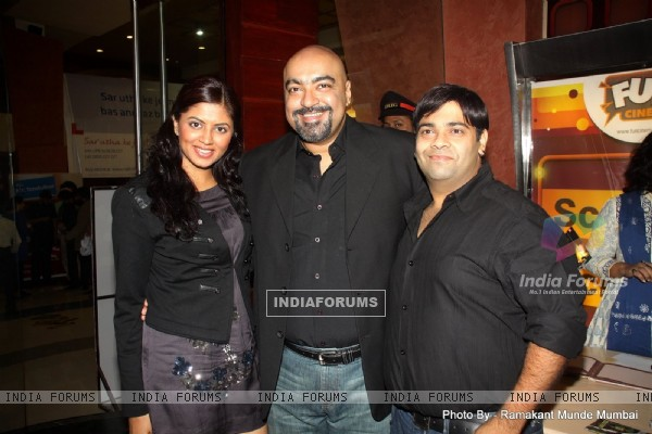 Vicky Tejwani(Producer) and Kavita Kaushik in Premiere of 'Hostel' movie at Fun Republic Andheri