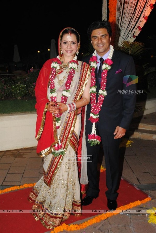 Sameer Soni and Neelam Kothari's wedding ceremony