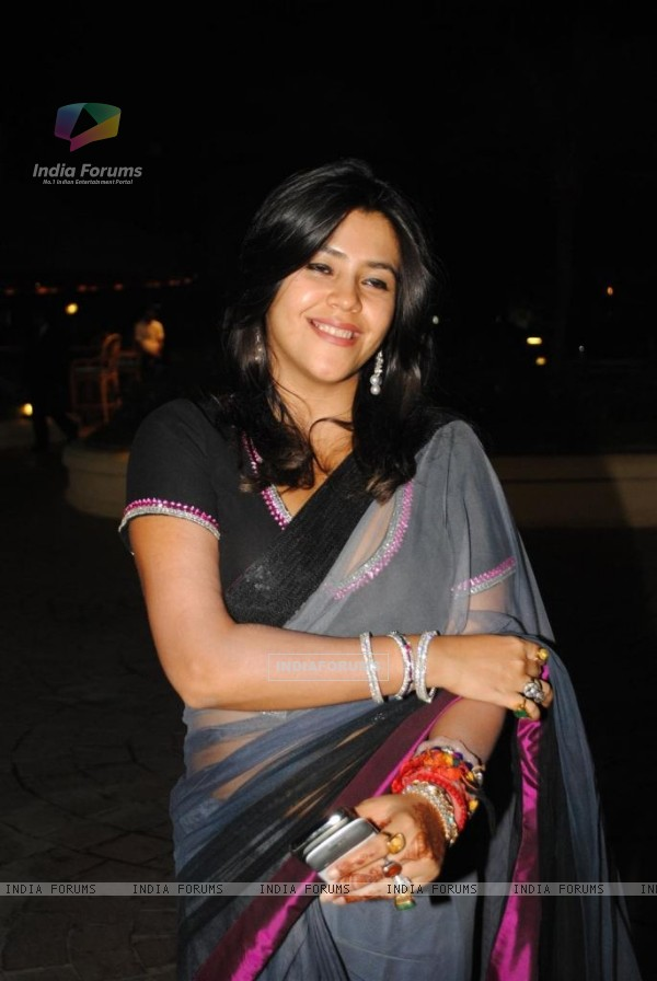 Ekta Kapoor at Sameer Soni and Neelam Kothari's wedding ceremony