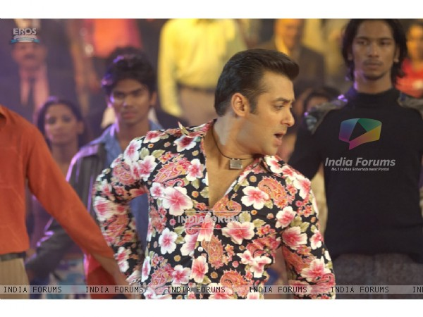Salman Khan wearing a floral printed shirt