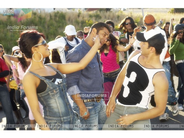 Salman,Priyanka and Sohail in God Tussi Great Ho