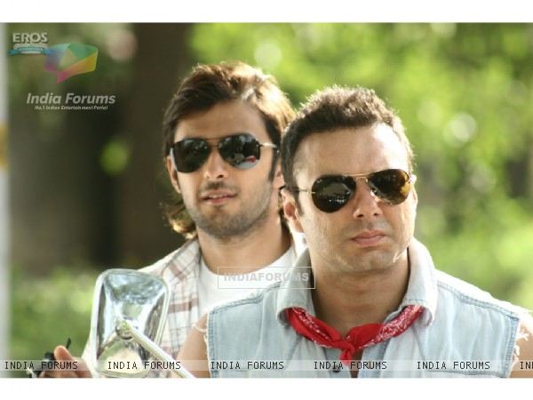 Sohail and Vatsal wearing black goggles