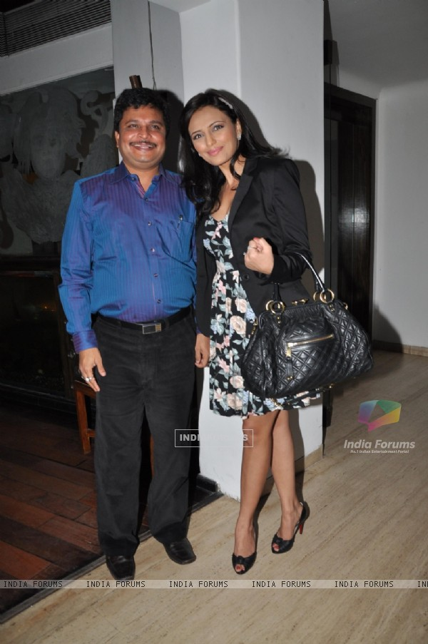 Asit Kumar Modi with Roshni Chopra at the launch party of Pyaar Mein Twist