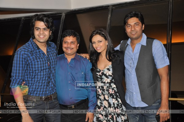 Asit Kumar Modi, Roshni Chopra and Manish Paul at the launch party of Pyaar Mein Twist