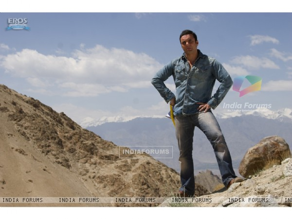 Sohail Khan standing on a mountain