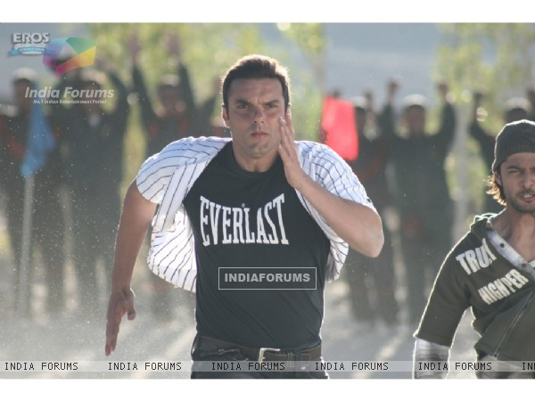Vatsal Sheth and Sohail Khan doing racing