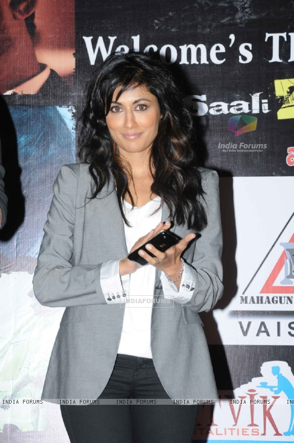 "Chitrangda singh for Yeh saali zindagi film in Ghaziabad, vaishali located ""Mahagun Mall"""