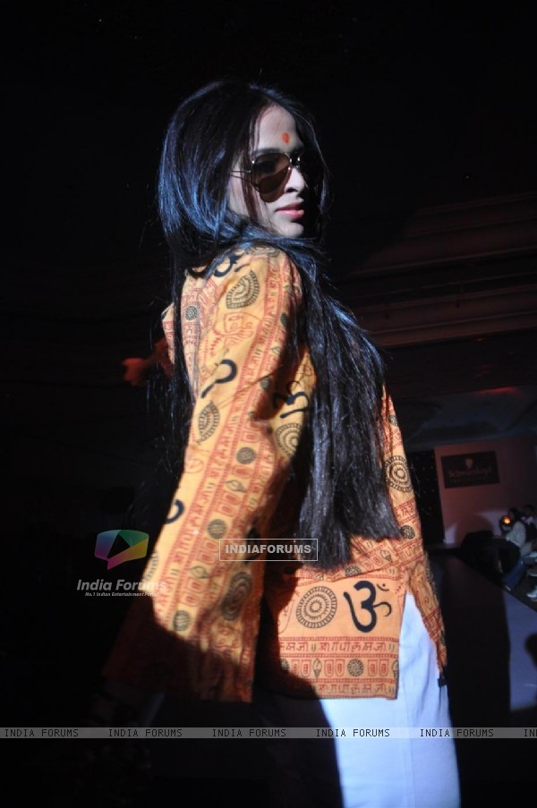 Model graces the Schwarzkopf Professional Coffee Table book launch at the Leela Hotel