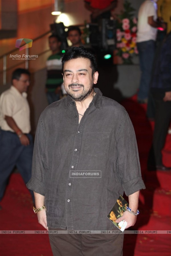 "Adnan Sami at Dev Anand's old classic film ""Hum Dono"" premiere at Cinemax Versova"