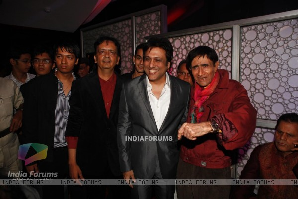 "Govinda at Dev Anand's old classic film ""Hum Dono"" premiere at Cinemax Versova"