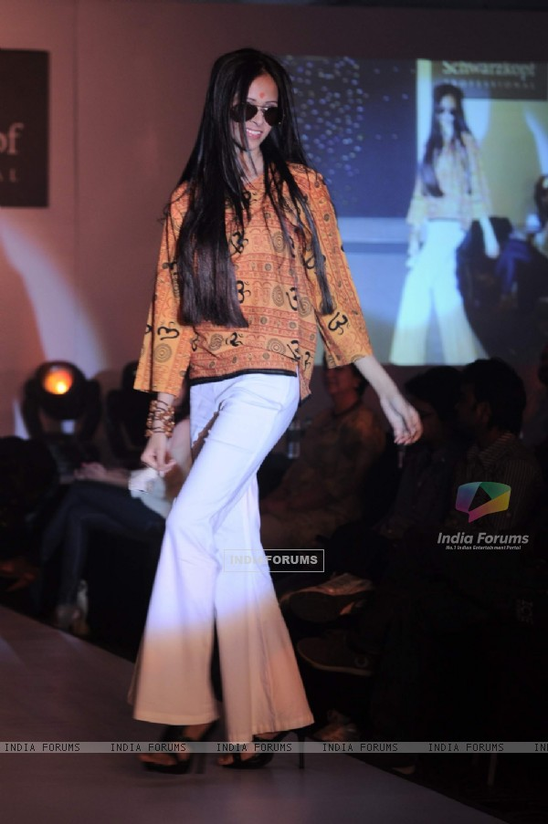 Model at Schwarzkopf Professional Coffee Table Book launch at Leela Hotel. .