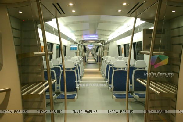 The inside view of Airport Metro at the IGI Airport  station in New Delhi on Sat 5 Feb 2011. .