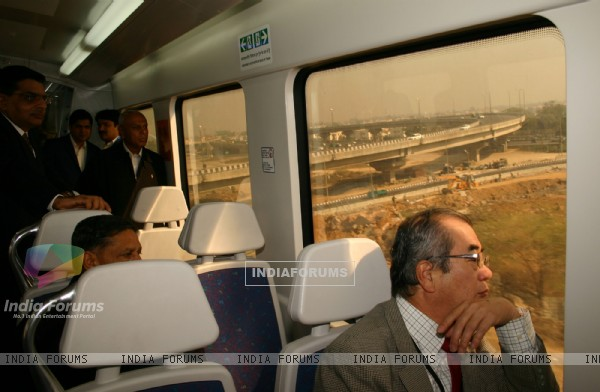 The inside view of Airport Metro in New Delhi on Sat 5 Feb 2011. .