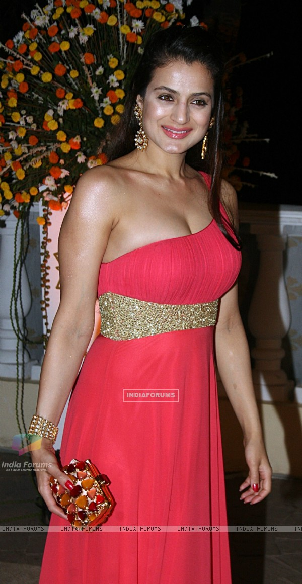 Ameesha Patel at Imran Khan and Avantika Malik's Wedding Reception Party at Taj Land's End