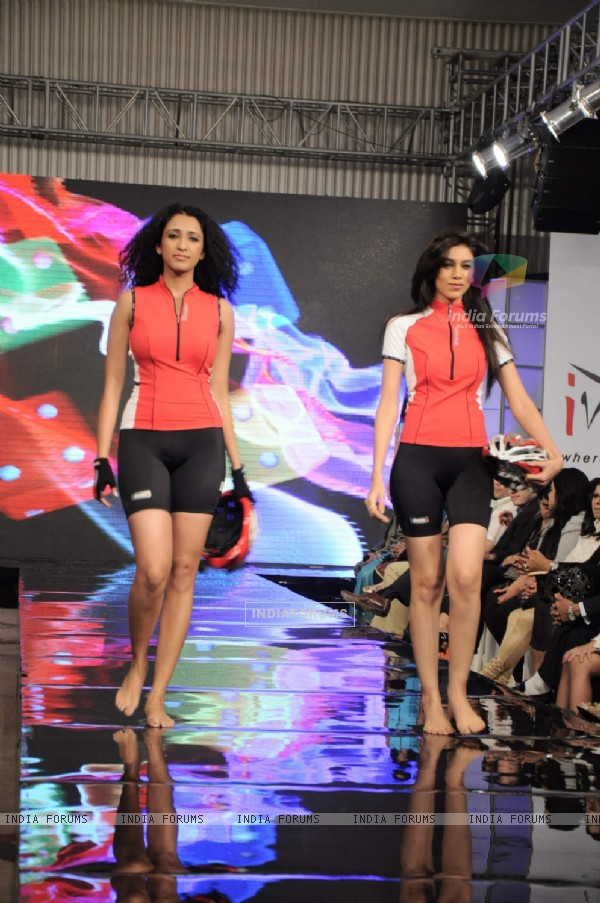 Models at Gitanjali Tour De India fashion  show at Trident. .