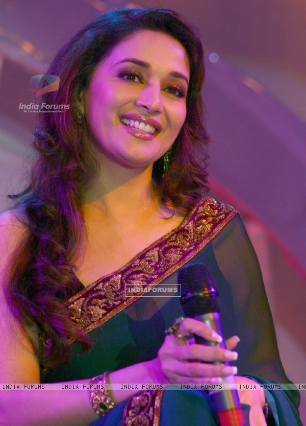 "Madhuri Dixit at the launch of ""Food Food"" foundation in New Delhi"