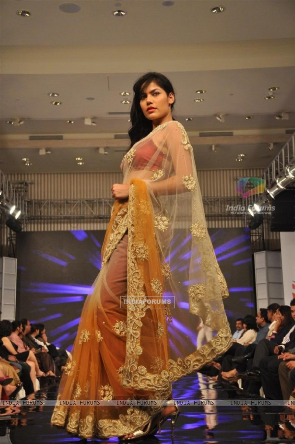 Models walk the ramp for Gitanjali Cyclothon Fashion Show 2011