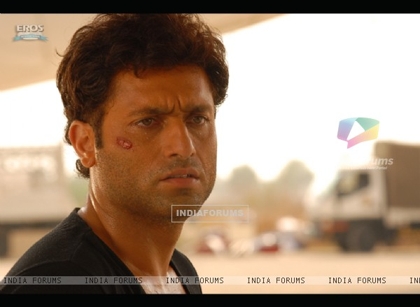 Shiney Ahuja looking tensed